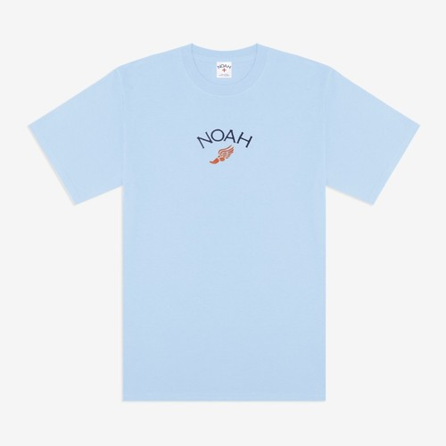 Embroidered Winged Foot Logo Tee(Light Blue)