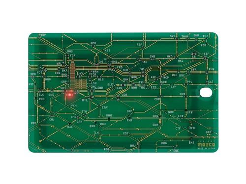 FLASH London回路線図 ICカードケース  緑【名入れ無料サービス実施中】