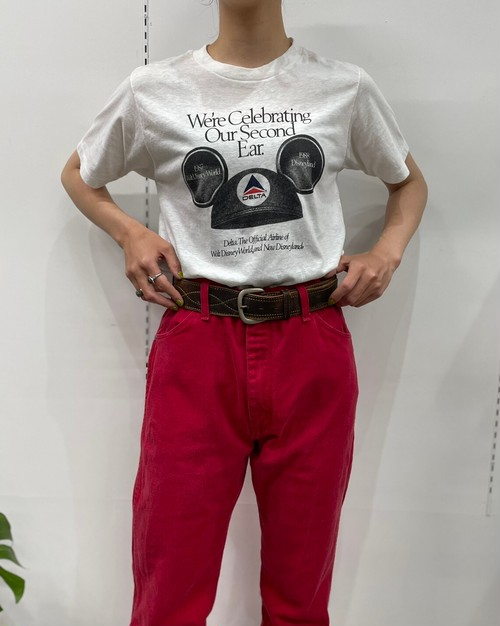 MADE IN USA 1980s MY SHIRT DELTA×Disney print  T-shirt【M】