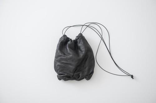 SIWA:巾着pochette -S .black