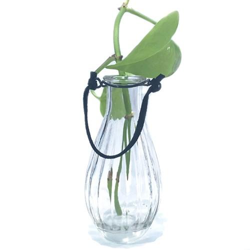 アンティークガラスボトルの一輪挿しC/ブラック ☆数量限定品