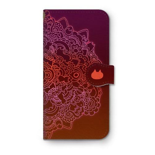 ネコタングル choco 手帳型iPhoneケース