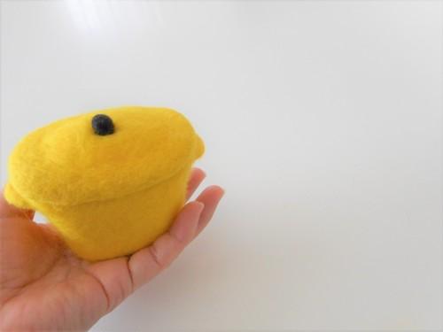 小さなお鍋の小物入れ 黄色
