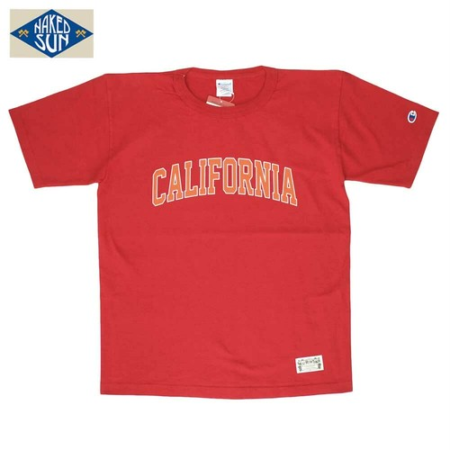 "NS101006 ""CALIFORNIA"" T1011 PRINT Tee / RED"