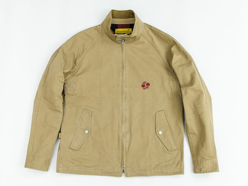 HARRINGTON JACKET -CHINO- (BEIGE) / GERUGA