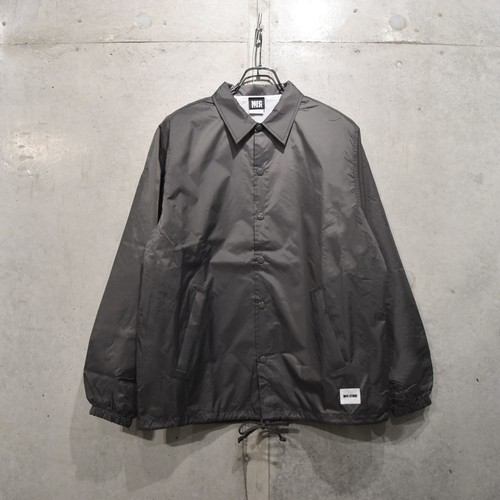 MFC STORE WHITE TAG LOGO COACH JACKET / CHARCOAL GRAY