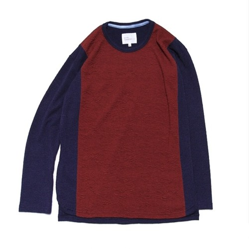 quolt / AFURE KNIT / NAVY-RED / 901T-1156