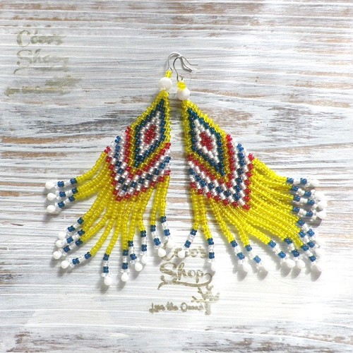 Hippie&Ethnic Fringe Pierce    -Yellow-
