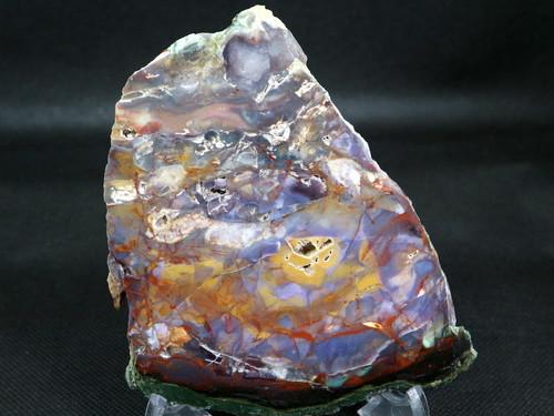 希少!パープル カウ アゲート 原石 オレゴン州産 131g 鉱物 AG076 天然石 パワーストーン