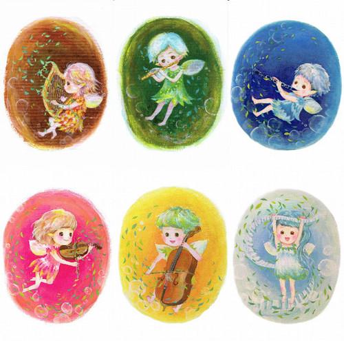 PCS016 「楽器を奏でる妖精シリーズ」ポストカード24枚セット(6種類各4枚)
