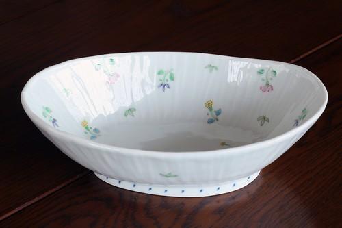 藍水 舞小花 楕円鉢 うつわ藍水 波佐見焼