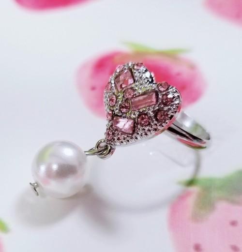 ハートパールリング(指輪)rg18