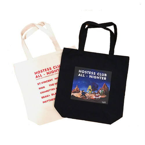 Hostess Club All-Nighter 2017 TOTE BAG  -White & Black-【OFFICIAL GOODS】