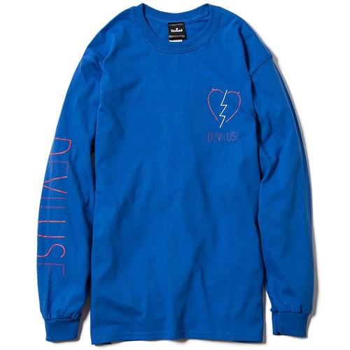 【Deviluse | デビルユース】Neon L/S T-shirts(Blue)