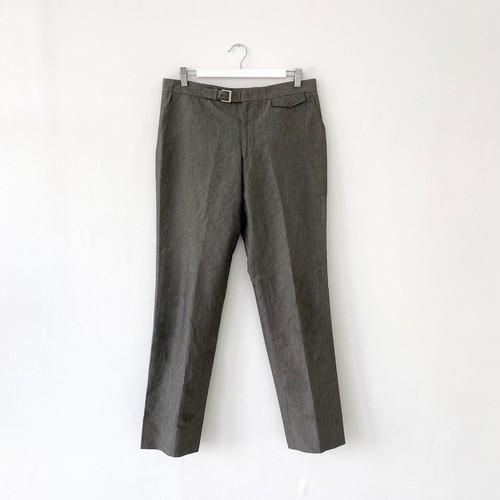 """""""HERMES""""linen×cotton stripes slacks -gray-"""