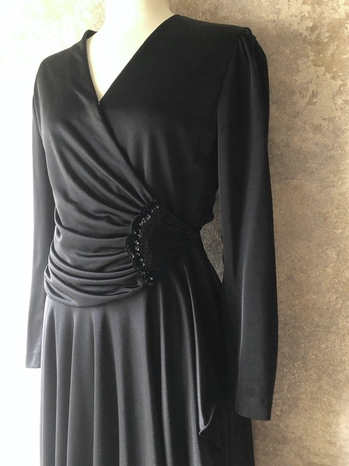 vintage ordermade black dress