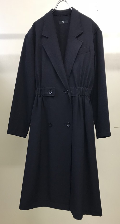 1980s Y's YOHJI YAMAMOTO DOUBLE BREASTED GATHERED COAT
