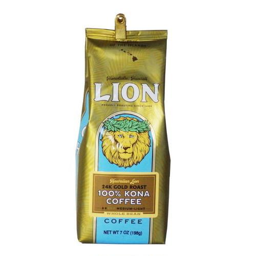 24KゴールドローストWB(挽いていない豆) ライオンコーヒー(7oz 198g) 100%コナコーヒー