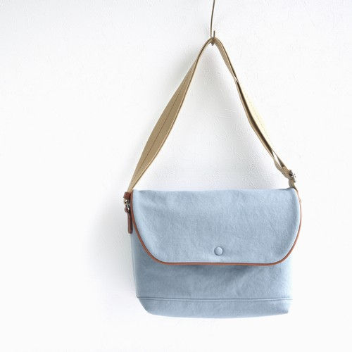 CANVAS FLAP SHOULDER M / ICE GRAY