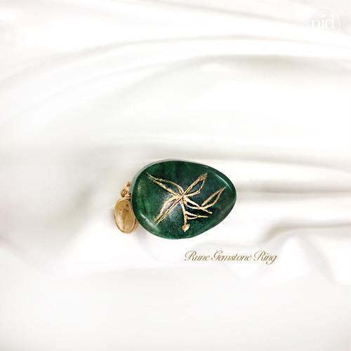 Rune Aventurine Ring_Love&power