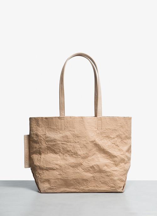 WRINKLED SHOPPER WITH REMOVABLE BAG
