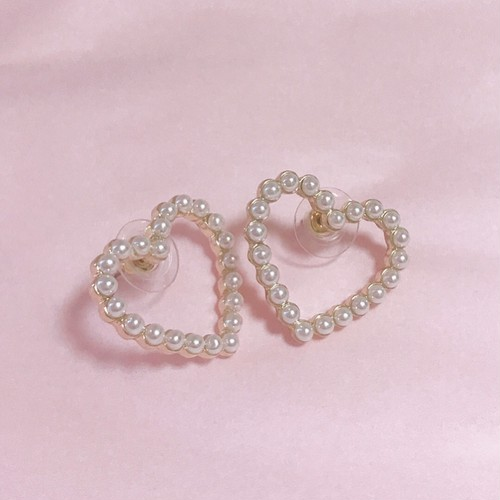 mini heart pearl pierce( 予約 )