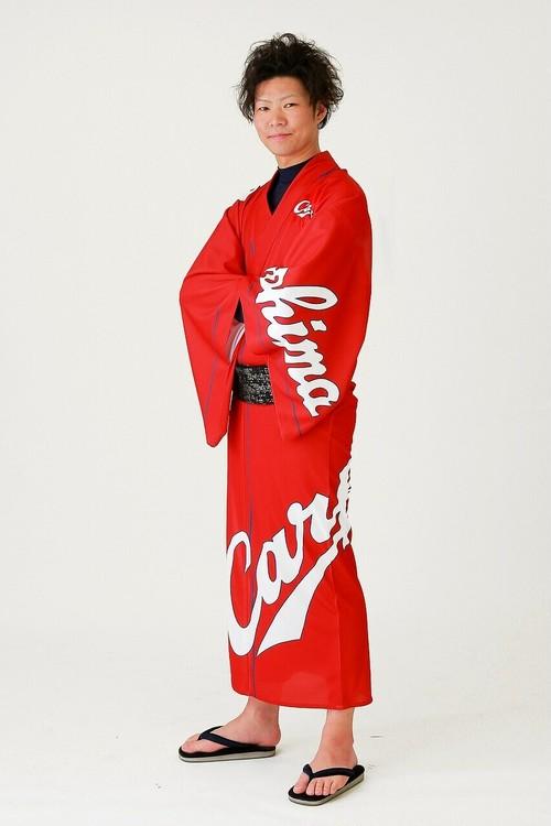 2019カープ浴衣 Basic(赤) メンズS~LL 背番号なし ポリエステル100% 仕立て上がり 納期約3週間