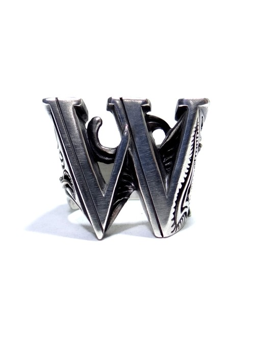 alphabet ring#W (silver925) - アルファベットモチーフ リングW-