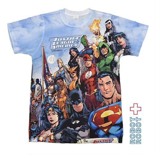 Tシャツ DC ジャスティス リーグ 総柄