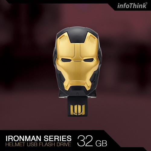 InfoThink USBメモリ MARVEL アベンジャーズ/インフィニティ・ウォー Avengers: Infinity War USB フラッシュドライブ マスク 32GB アイアンマン マーク20 パイソン IT-USB-100(AA HEAD)32GB