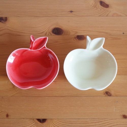 【再入荷】深山 りんご 豆小皿  (美濃焼) apple 赤りんご、青りんご 豆皿 小皿