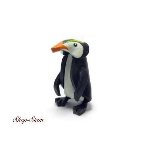 本牛革 アニマル キーチェーン ペンギン/Penguin ハンドメイド製