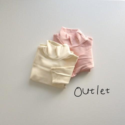〔即納〕 outlet / soft high neck tee