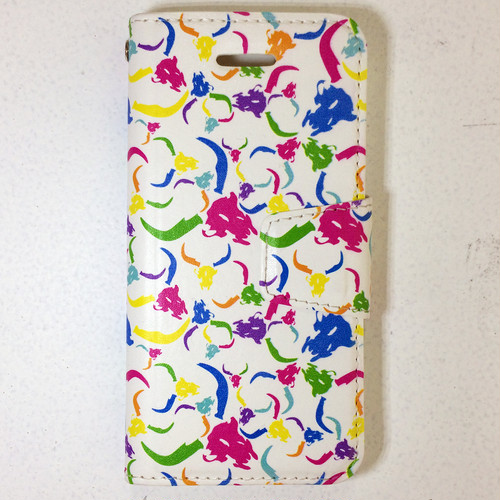 iPhone SE/5s / 手帳型 /G 総柄_ホワイト