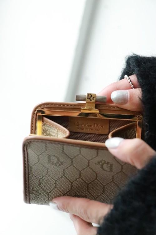 Christian Dior frame mini wallet