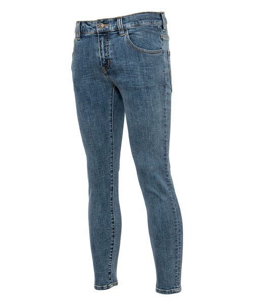 PLAIN STRETCH SKINNY DENIM PANTS[REP107]
