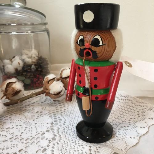 ドイツヴィンテージ・ロイヒャーマン・煙吐き人形 木彫り クリスマス (A)