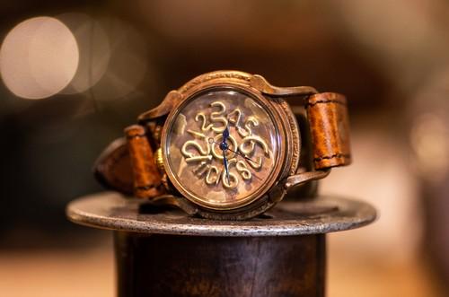 個性的な手作り感の強い大き目の腕時計(Franti/店頭在庫品)