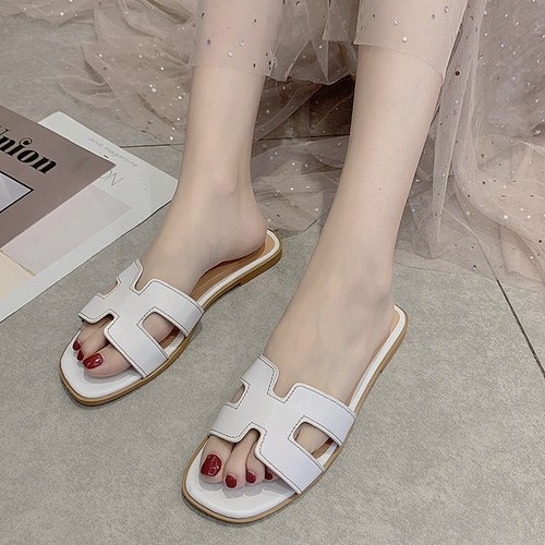 simple leather sandal 2color