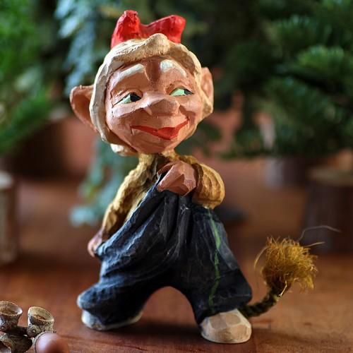 Henning ヘニング Troll トロール 木彫り人形-4 北欧ヴィンテージ