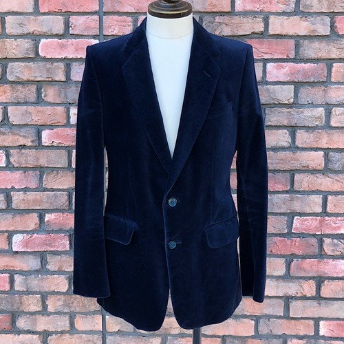 1980s Burton Velvet Jacket Made In England Navy