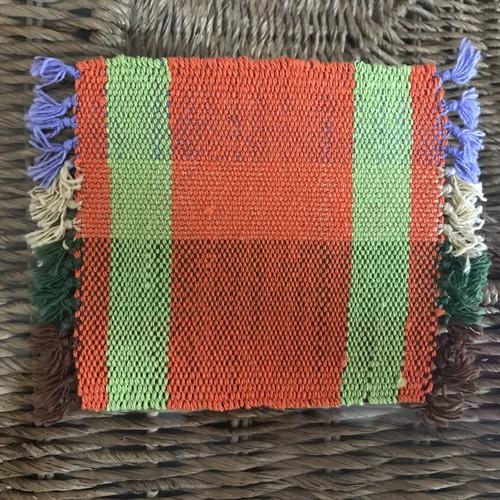さをり織りコースター