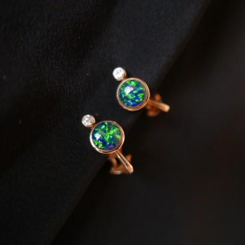 Emilio Pucci 18K diamond Opall Earring