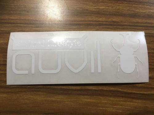 auvil(オーヴィル) カッティングロゴステッカー ホワイト  【送料無料】