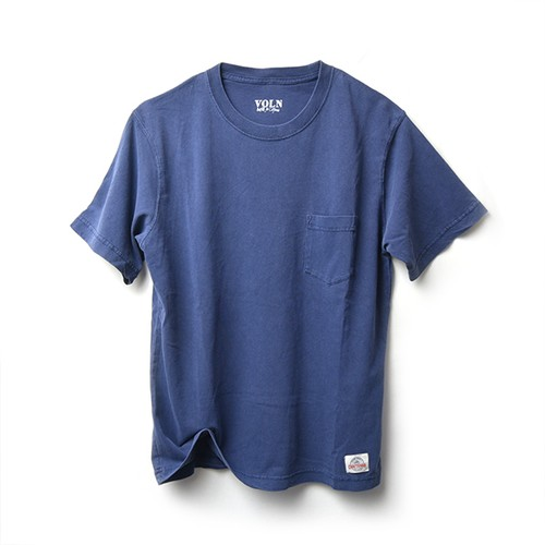 VOLN × CRAFTSMAN CREW NECK POCKET T-SHIRT(NAVY)