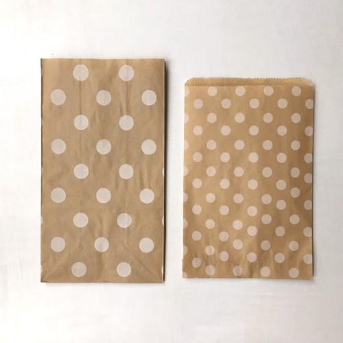 タイの水玉クラフト紙袋