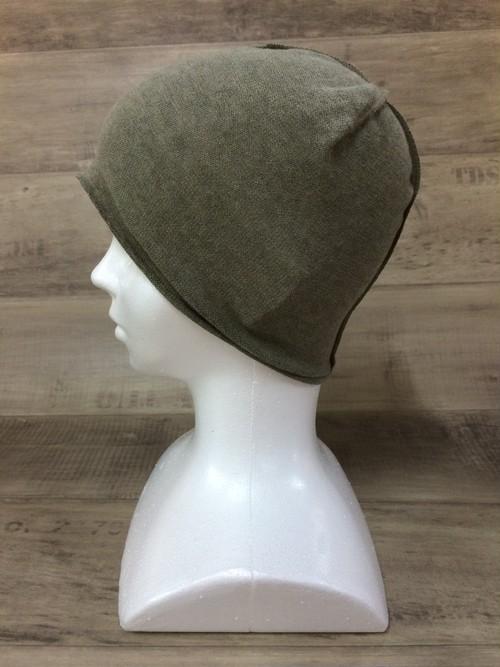 【送料無料】こころが軽くなるニット帽子amuamu 新潟の老舗ニットメーカーが考案した抗がん治療中の脱毛ストレスを軽減する機能性と豊富なデザイン NB-6057 玉露 <オーガニックコットン インナー>