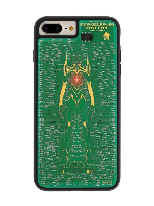 FLASH EVA01 基板アート iPhone7/8 Plusケース 緑【東京回路線図A5クリアファイルをプレゼント】