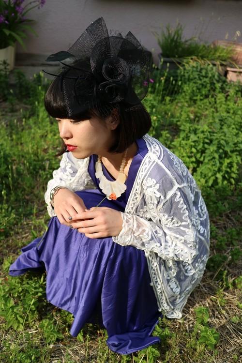 Tacca chantrieri head dress