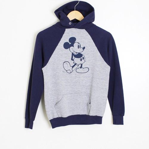古着 スウェット パーカー Disney Mickey ラグラン